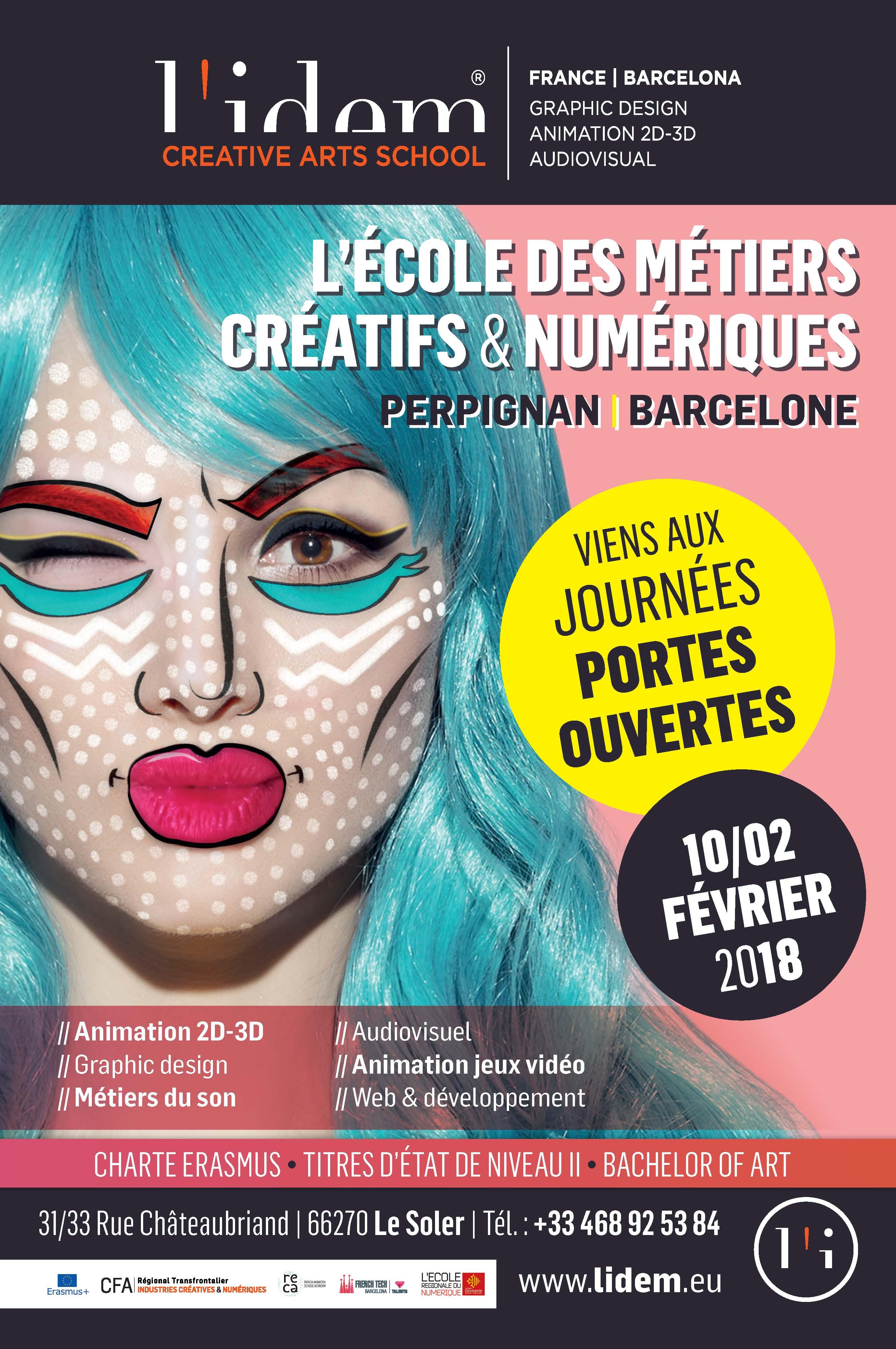 JPO de L'IDEM 2018 affiche n°1 réalisée par Samuel LOUART