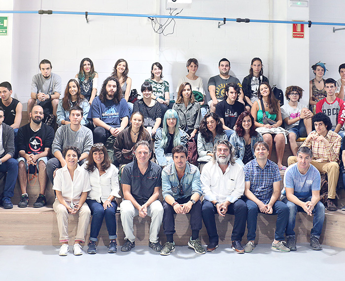 L'équipe des élèves de Barcelone