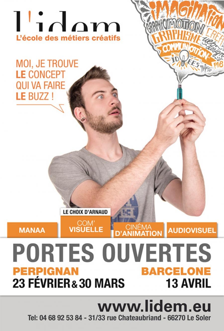 Affiche n°2 JPO de L'IDEM 2013
