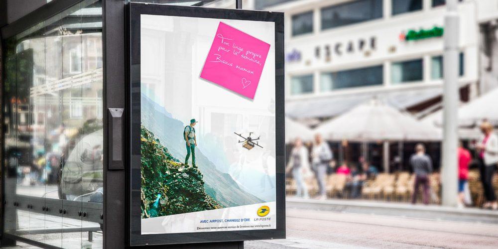 Campagne drone La Poste - Abri bus