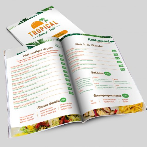 Tropical Café Menu
